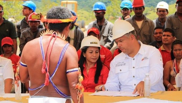 Venezuelan government ministers assured the Indigenous Communities that their needs will be met.