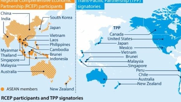 The RCEP is considered a formidable alternative to the Trans-Pacific Partnership.