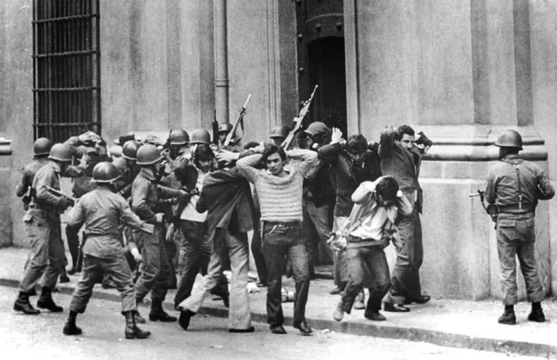 People are arrested during the military coup in Chile, Sept. 11, 1973.