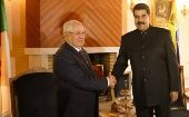 Maduro meets with Abdelkader Bensalah, President of the Council of the Nation of Algeria, Sept. 11, 2017.