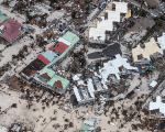 The aftermath of Hurricane Irma on Saint Martin.