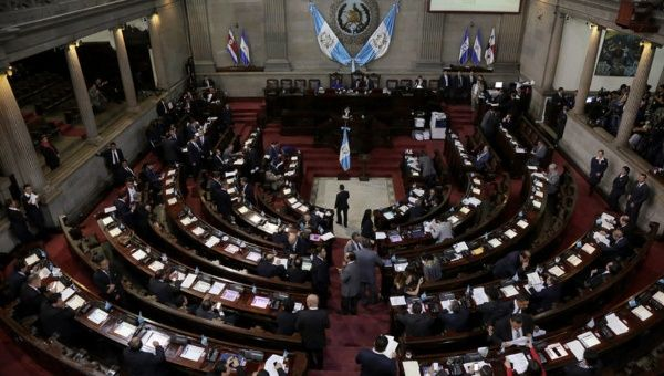The Guatemalan Congress in session.