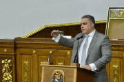 The Venezuelan Attorney General Tarek William Saab speaking in front of the National Constituent Assembly, Caracas, September 14, 2017