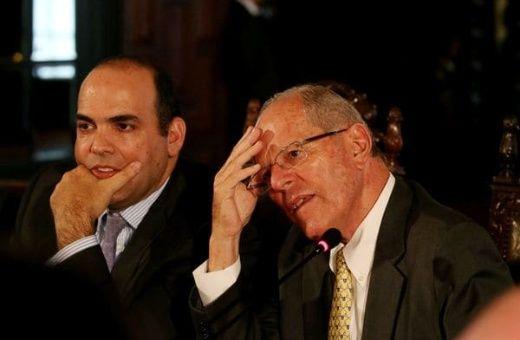 El hasta ayer primer ministro Fernando Zavala y el presidente Pedro Pablo Kuczynski