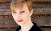 "Chelsea Manning (above) tackled the ""military/intel/police state"" on her Twitter following the revocation of a Harvard Fellowship from CIA pressure."