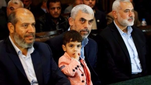 Hamas leader Ismail Haniyeh (right) traveled to Cairo, Egypt last week for reconciliation discussions.