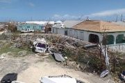 Homes in Codrington, Antigua and Barbuda were completely torn apart by the storms powerful winds.