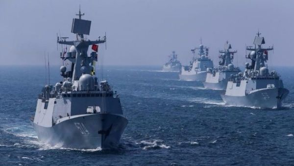 The Chinese performed drills in the Sea of Japan before pairing with Russia at the port of Vladivostok.