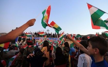 Kurds gather before the Sept. 25 independence referendum.