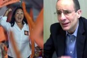Then-candidate Keiko Fujimori at a presidential campaign rally in 2016 (L) and Marcelo Odebrecht testifying in Lima, Peru (R).
