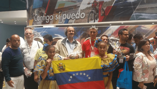 Representatives of from social groups have been visiting projects in Venezuela