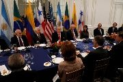 U.S. President Donald Trump speaks his mind at a working dinner with Latin American leaders in New York City, Sept. 18, 2017.