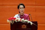 Aung San Suu Kyi belongs to the country's Bamar ethnic majority.