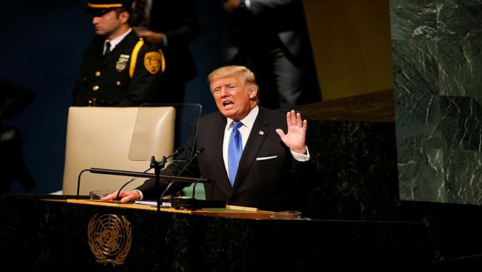 Donald Trump reitera amenazas contra Venezuela y Cuba ante la ONU
