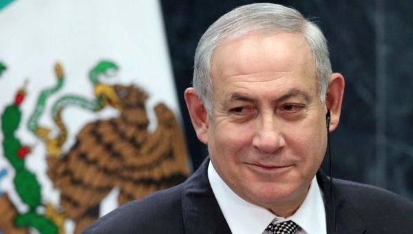Israeli Prime Minister Benjamin Netanyahu smiles during an addresses to the media at Los Pinos presidential residence in Mexico City, Mexico, September 14, 2017.