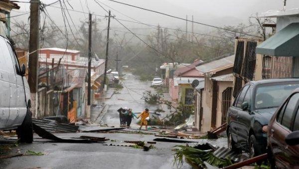 Restrengthening Category 3 Hurricane Maria Moves Towards