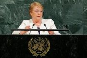 Chilean President Michelle Bachelet addresses the 72nd United Nations General Assembly at U.N. headquarters in New York, U.S., Sept. 20, 2017.