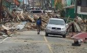 One of the areas of Dominica shown in the aftermath of Hurricane Maria.