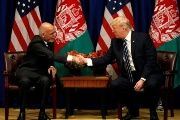 U.S. President Donald Trump meets with Afghan President Ashraf Ghani on September 21st, 2017 at the United Nations.