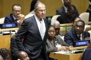 Russian Foreign Minister Sergey Lavrov (above) at the United Nations General Assembly.