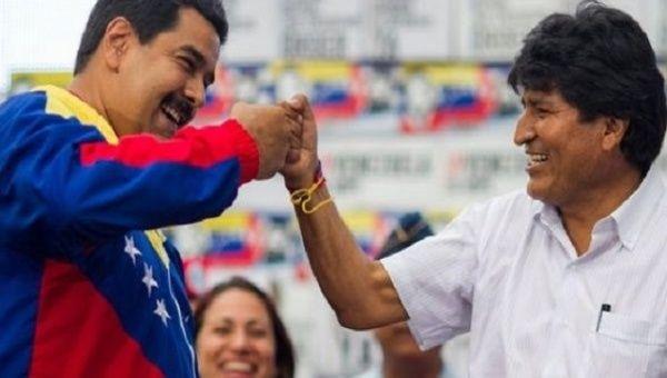 Venezuela President Nicolas Maduro and Bolivia President Evo Morales.