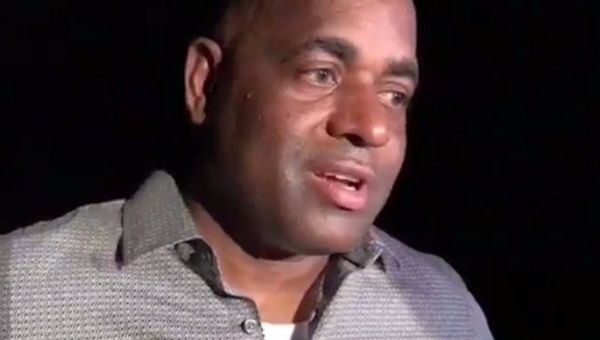 Dominica Prime Minister Roosevelt Skerrit speaks with teleSUR