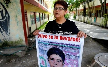 """I never imagined that we would spend so much time like this,"" said Blanca Luz Nava, mother of Jorge Alvarez, one of the students who vanished on September 26, 2014."