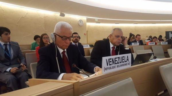 El embajador de Venezuela en el Consejo de Derechos Humanos en la ONU recibió el respaldo y solidaridad de más de cincuenta pases.