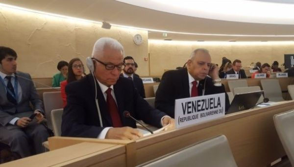 The Venezuelan ambassador in the United Nations Human Rights Council speaks for sovereignty and against interference.