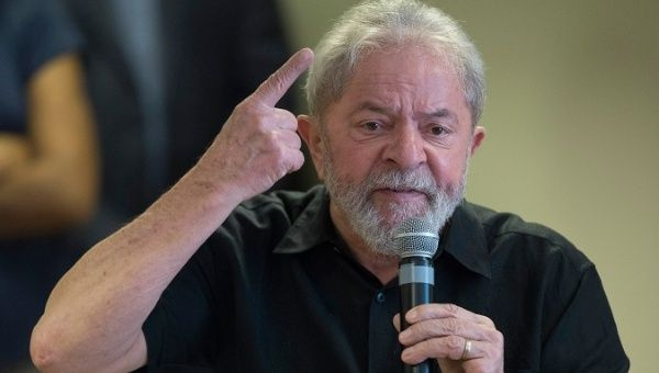 "Former Brazilian President Luiz Inacio ""Lula"" da Silva is first in polls for the presidential elections."
