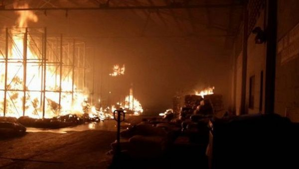 Violent opposition groups incinerated over 50 tons of food stored in a government warehouse in Anzoategui in late June.