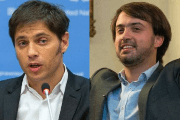 Former Economy Minister Axel Kicillof and Chilean student leader and mayor of Valparaiso Jorge Sharp.
