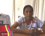 Milagro Sala in a building used to hold her under house arrest