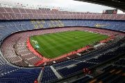 General view of Camp Nou stadium before the start of Spanish La Liga soccer match between Barcelona and Las Palmas in Barcelona, Spain, Oct. 1, 2017.
