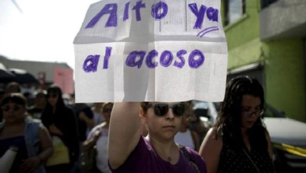 Mexican women march against violence.