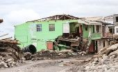 A house destroyed by the Hurricane in Loubiere, about 15 minutes' drive from Roseau, the capital of Dominica.