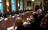 Trump meets with top military officials to discuss Iran and the DPRK.