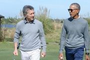 Macri and Obama enjoy their golf game while Argentines face serious problems.