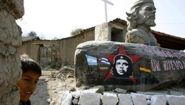 "A monument for Ernesto ""Che"" Guevara stands in La Higuera, Bolivia."