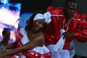A rumba performance during an event dedicated to late Cuban President Fidel Castro in Havana, Dec. 11, 2016.