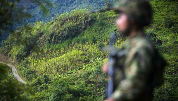 The killings occurred in the Nariño department, in the southwest of the country, as coca growers were protesting the forced eradication of their crops by the government.