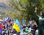 People pay tribute to Che in Bolivia on the 50th anniversary of his death.