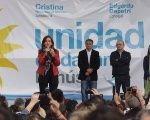 Former President Cristina Fernandez with members of her Citizen's Unity party.
