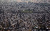 An aerial view of properties destroyed by the Tubbs Fire is seen in Santa Rosa, California, U.S., Oct. 11, 2017.