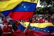 Venezuelans march in support of government.