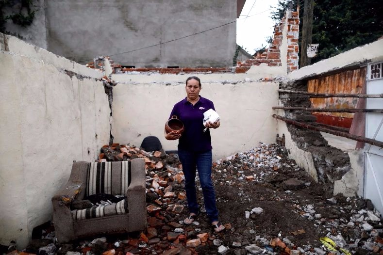 Thousands of homes were damaged or destroyed as a result of the 7.1 magnitude earthquake.