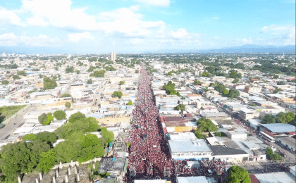 Thousands of Venezuelans take to the streets of Monagas in support of the Bolivarian process ahead of this Sunday