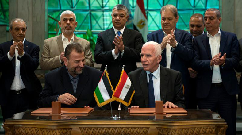 The delegations of Hamas and Al-Fatah met Thursday in Cairo to finalize the agreement.