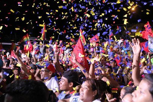 En Petare, estado Miranda, celebraron la victoria de Héctor Rodríguez.
