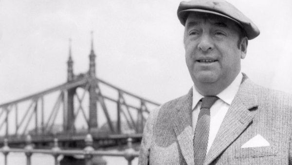 Chilean poet and Nobel Prize for Literature recipient, Pablo Neruda.